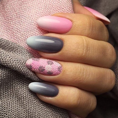 Manucure ombre à la mode sur des ongles de différentes longueurs: idées de photos