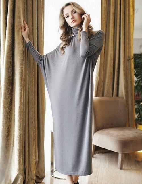 Robes de chauve-souris à la mode - photos, robes de soirée et de tous les jours avec une manche de chauve-souris