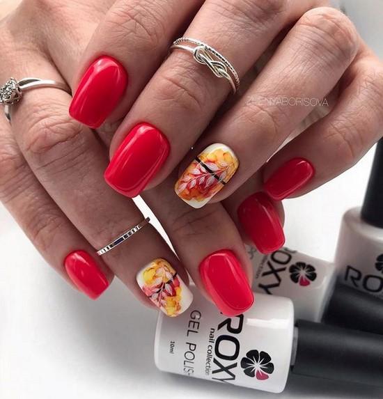 Belle manucure sur les ongles carrés - idées de conception de photos, tendances de la mode