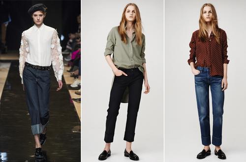 Moda kot giyim ve kot tarzı - fotoğraflar, trendler, trendler, stiller