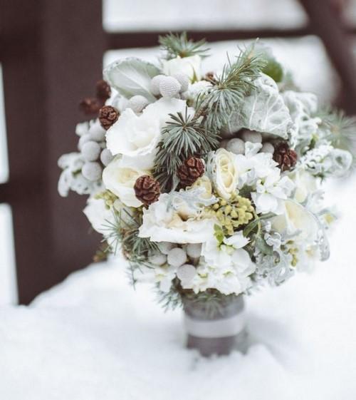 Les plus beaux bouquets d'hiver. Photo de l'idée de bouquets avec une ambiance hivernale