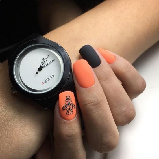 Meilleures idées et innovations de l'art des ongles orange