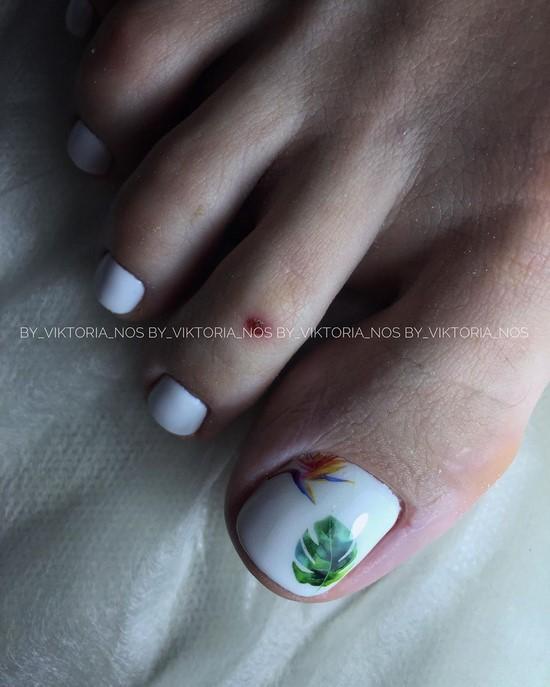 Telkari beyaz pedikür tasarım fotoğraf
