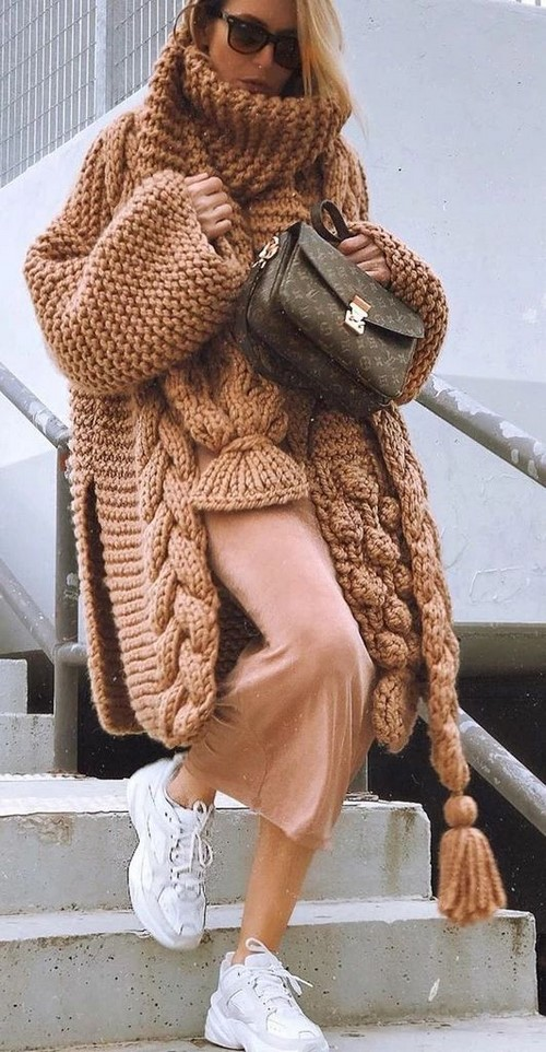 Manteaux tendance surdimensionnés: idées de photos sur la façon de porter un manteau surdimensionné